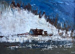 "Winter Scene | 18"" x 24"" | Sandra Pratt"