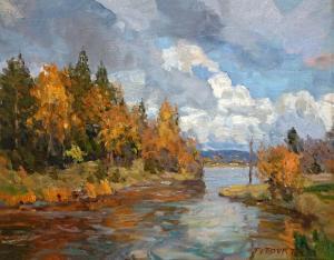 """Harmony of Fall   16"""" x 20""""   Aleksander Titovets"""