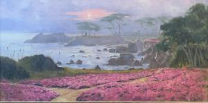 "Lovers Point Pacific Grove   18"" x 36""   Bagdonas"
