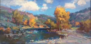 "By the Rivers Edge | 12"" x 24"" 