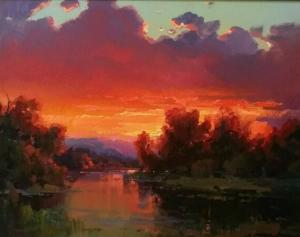 "October Sunset | 22"" x 28"" 