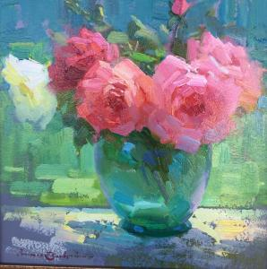 "Roses | 13"" x 13"" | Ovanes Berberian"