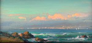 Ovanes Berberian | Seaside | 6x12 |Oil