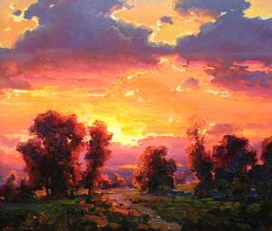 "Sunset 1   24"" x 30""   Ovanes Berberian"