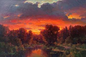 Sunset Glow | 24″ x 36″ | Ovanes Berberian