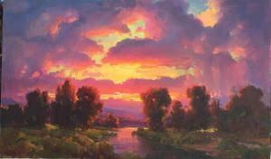 "Sunset Glow | 33"" x 55"" | Ovanes Berberian"