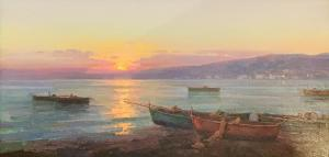 Sunset by the Lake | 20″ x 40″ | Ovanes Berberian