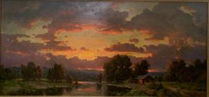 Sunset by the Lake | 35″ x 75″ | Ovanes Berberian