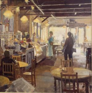"Coffee Shop | 30"" x 30"" 