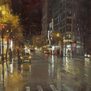 "Taxi Stop | 36"" x 36"" 