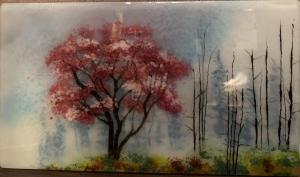 Blossoms in Fog | 11″ x 20″ | Ann Cavanaugh