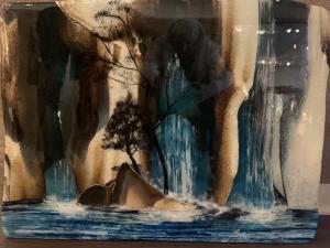 Falls to the Sea | 20″ x 26″ | Ann Cavanaugh