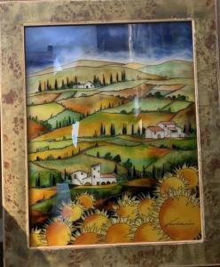 "Toscana Girasoli   28"" x 22""   Cruciani"