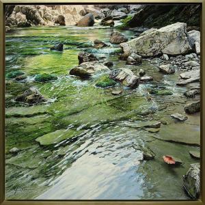 "Rock Fall 31"" x 31"" | Marc Esteve"