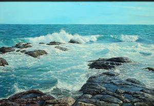 "Washing in with the Tide | 29"" x 42"" 