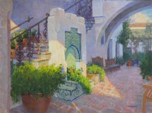 "The Courtyard of Little Napoli | 12"" x 16"" 