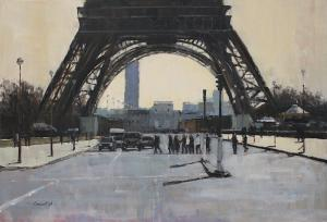 At the Tower's Feet | 30″ x 44″ | Philippe Gandiol