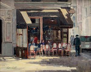 "Cafe Leopard | 16"" x 20"" | Phillipe Gandiol"