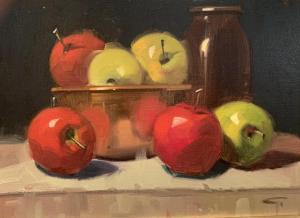 Apples & Copper Bowl | 12″ x 16″ | Gerald Julien Griffin