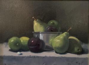 Pears & Plums | 12″ x 16″ | Gerald Julien Griffin