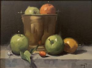 Still Life with Brass Bucket | 12″ x 16″ | Gerald Julien Griffin