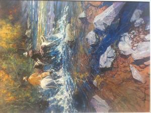 "Slippery Crossing | 40"" x 30"" | Robert Hagan"