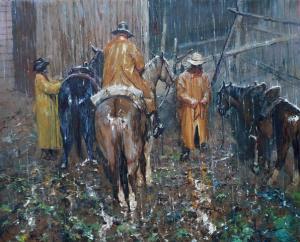 Wet Ride Ahead | 24″ x 30″ #2 | Robert Hagan