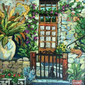 Christine Reimer| Jardin Les Arcs | 18 x 18 | acrylic
