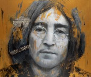 """John Lennon III   43"""" x 50""""   Johansen"""