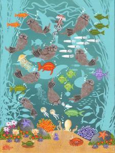 "Monterey Otter Fest | 12"" x 9"" | Merry Kohn Buvia"
