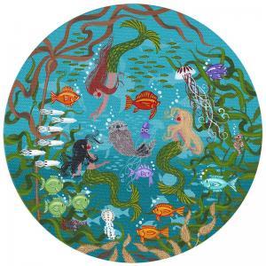 "Mermaids Garden | 8"" x 8"" | Kohn"
