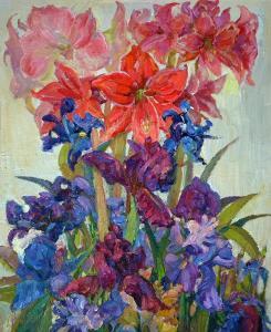 "Flower Hourglass   24"" x 20""   Lyuba Titovets"