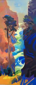 "Between Tides | 50"" x 22"" | Keith Lindberg"