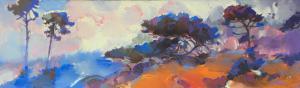 "Coastal Fog | 12"" x 40"" | Keith Lindberg"