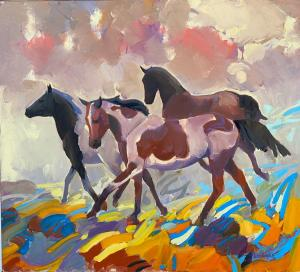 "Running | 30"" x 40"" 