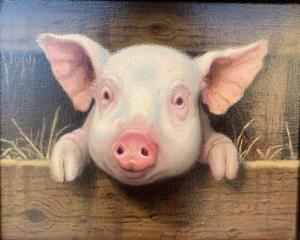This Little Piggy | 8″ x 10″ | Lithgow
