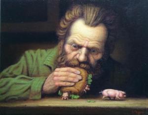 "Ham Sandwich | 8"" x 10"" | Lithgow"