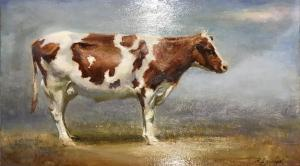 "Lonesome Cow | 8"" x 14"" 