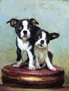 "Two Pups | 14"" x 11"" 