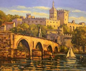 """Vieux Pont d'Avignon   20"""" x 24""""   Pascal Maucourant"""