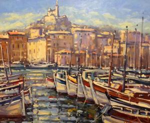 """Vieux Port de Marseilles   20"""" x 24""""   Pascal Maucourant"""