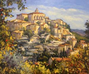 """Village de Gordes Provence   20"""" x 24""""   Pascal Maucourant"""