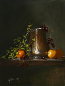 "Apricots & Copper | 16"" x 12"" 