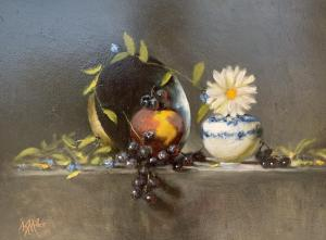 "Peach | 12"" x 14"" | Kathryn Miller"