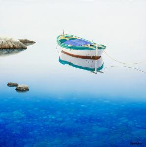"Blue Depths | 30"" x 30"" | Frane Mlinar"