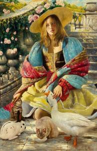 Fairy Tale Cinderella   76″ x 48″   Vladimir Muhin
