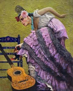 Flamenco   60″ x 48″   Vladimir Muhin