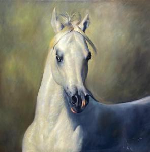 White Arabian   33″ x 3″   Vladimir Muhin