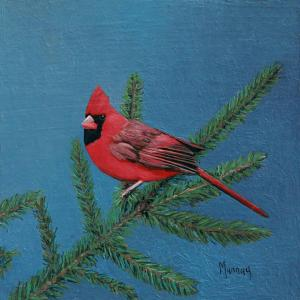 "Christmas Cardinal | 6"" x 6"" 