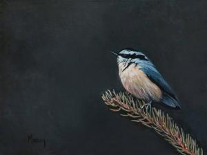 "Elegance Red Breasted Nuthatch | 6"" x 8"" 